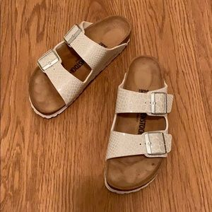 Birkenstock Arizona White Magic Snake Sandal...